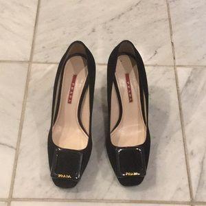 PRADA Suede Chunky Heels